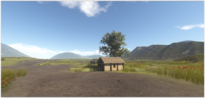 Wood and daub houses